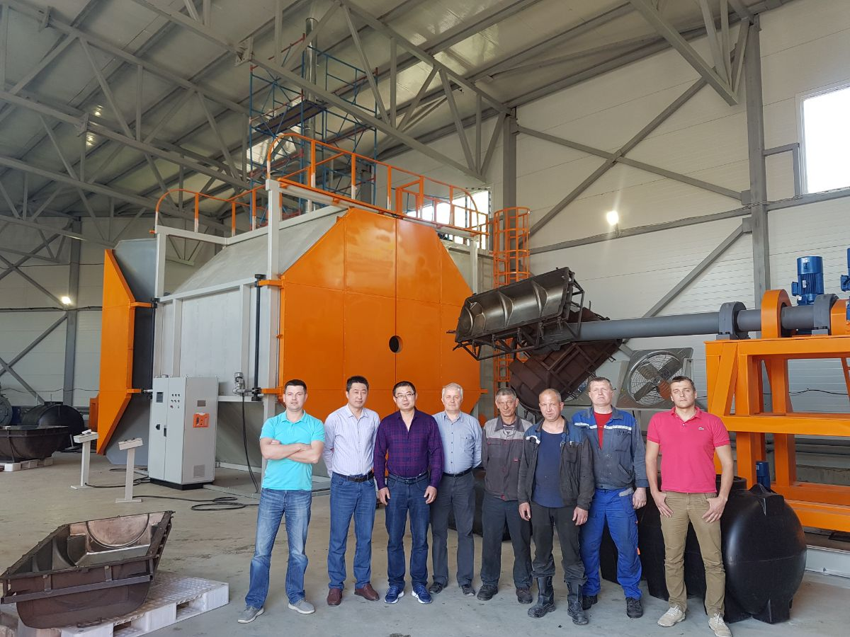 Yantai Fangda Rotational Molidng Co.,Ltd exported machine to new Russia customer again